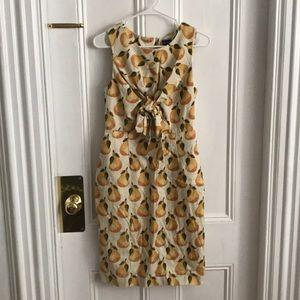 Anthropologie Pear-Print Dress